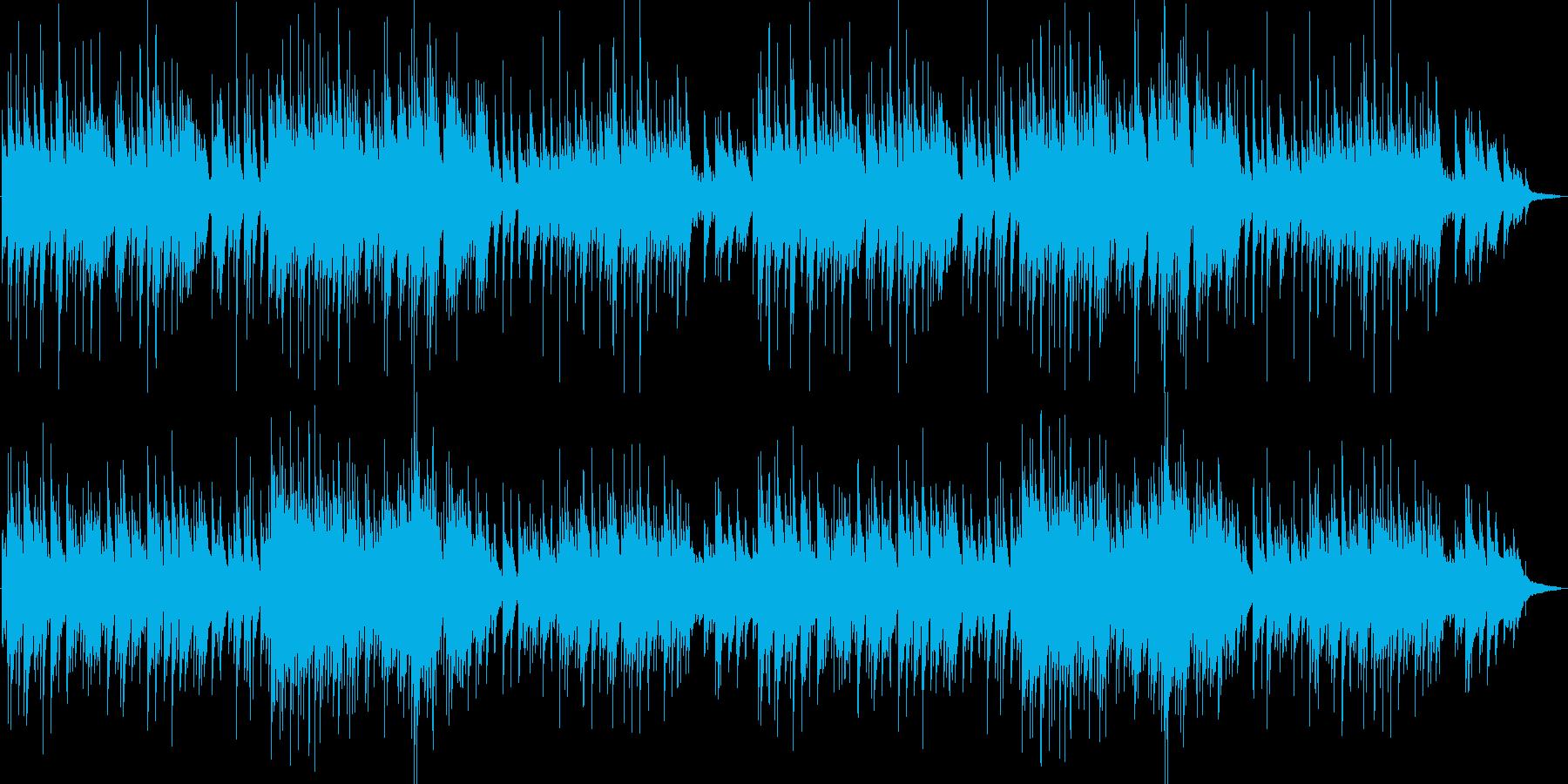 3拍子の幻想的なピアノの再生済みの波形