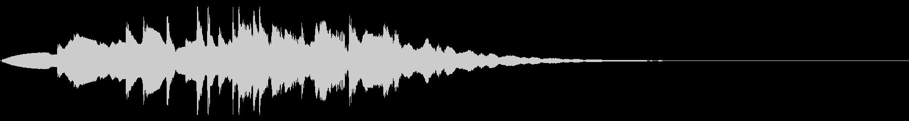 カラコロ転がる不思議なベルの音の未再生の波形