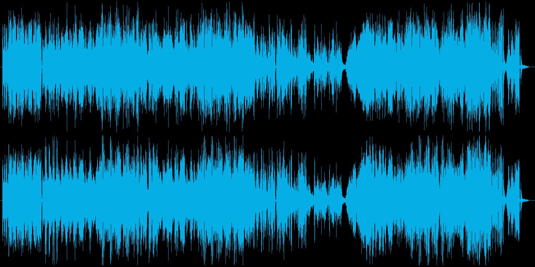 アップテンポでノリの良いピアノソロの再生済みの波形