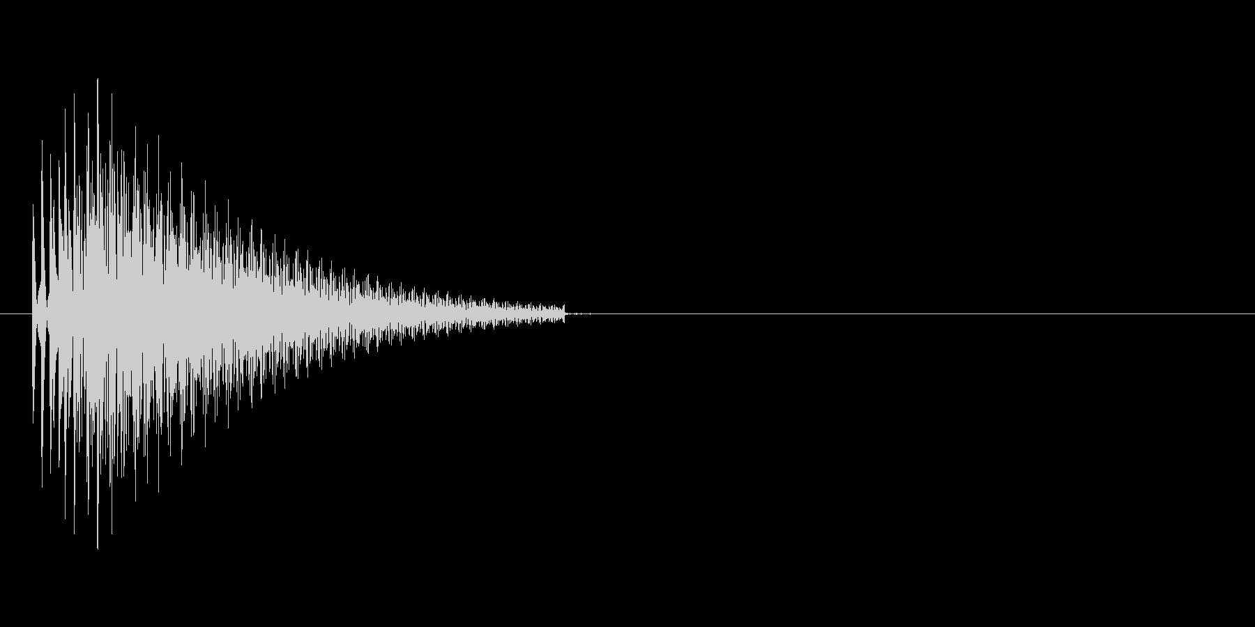 ブーン(ビープ音)の未再生の波形