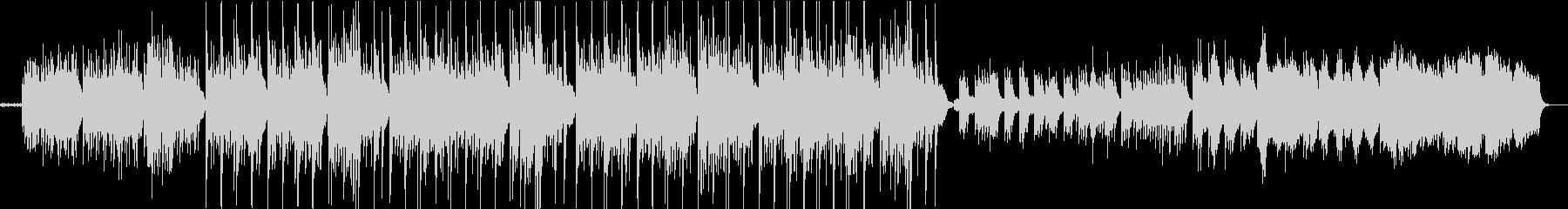 虚無的なエレクトロニカサウンドの未再生の波形