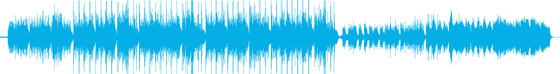 虚無的なエレクトロニカサウンドの再生済みの波形