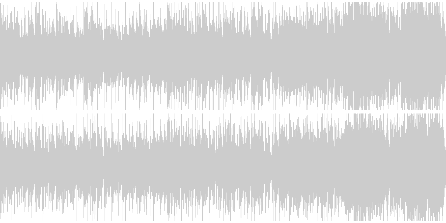 鐘のような音色の幻想的なエレクトロニカの未再生の波形