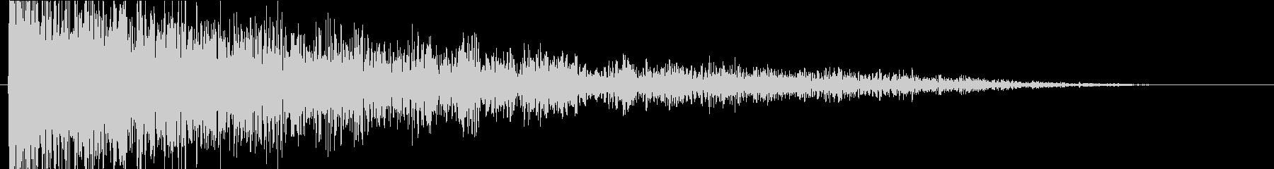 ドーン(巨大な衝撃音)音程A#の未再生の波形