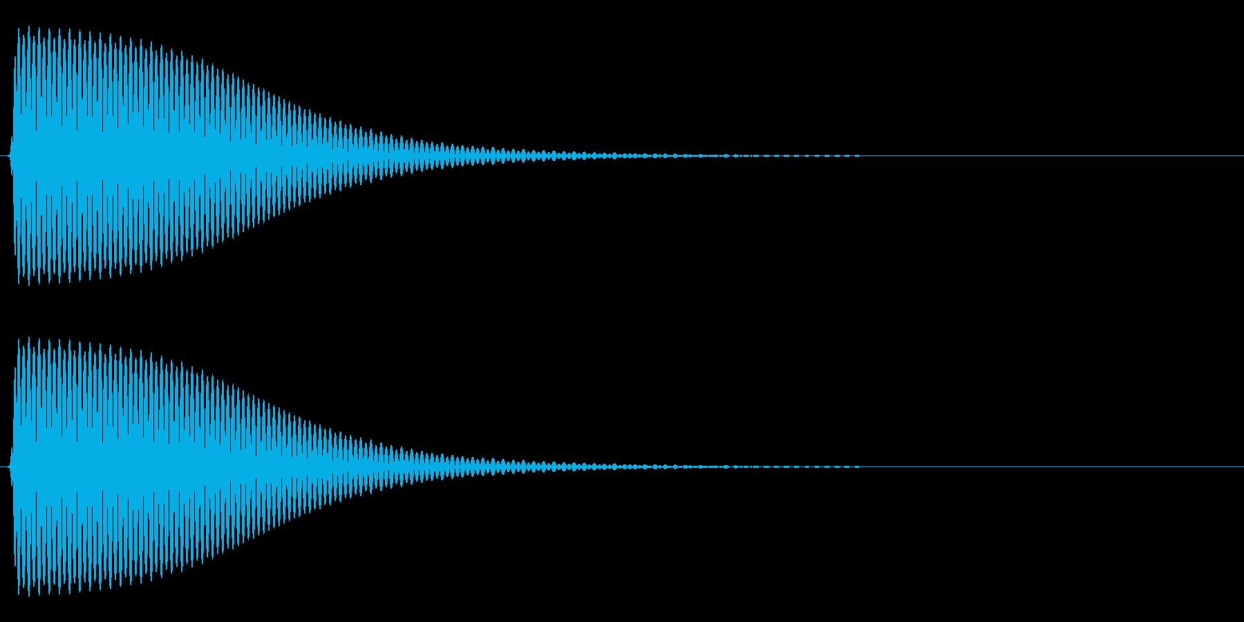 Com ファミコンなどのコマンド音 10の再生済みの波形
