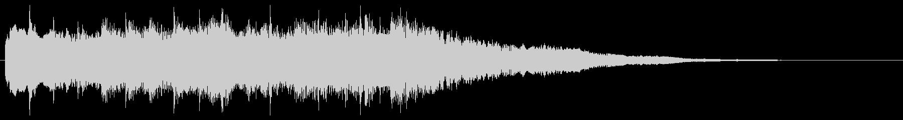 冷たく澄んだ響きの転回音 場面転換 切替の未再生の波形