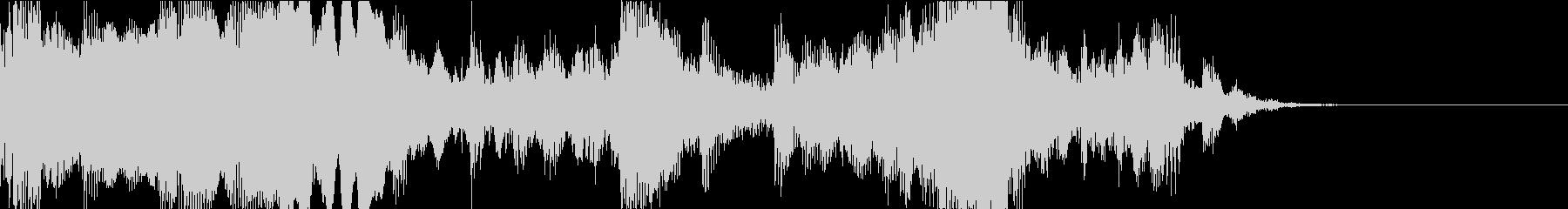 ダークなクラシックジングルの未再生の波形
