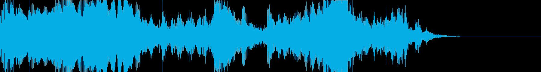 ダークなクラシックジングルの再生済みの波形