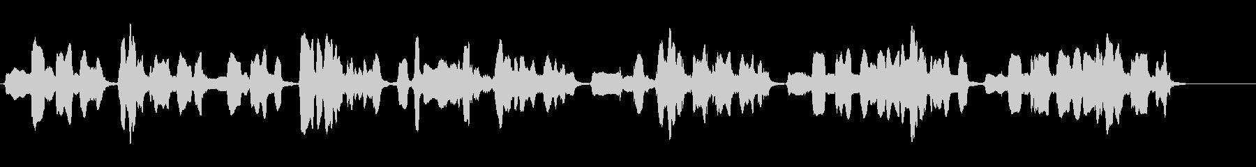 尺八の独奏 生演奏 和風のシーンなど 5の未再生の波形