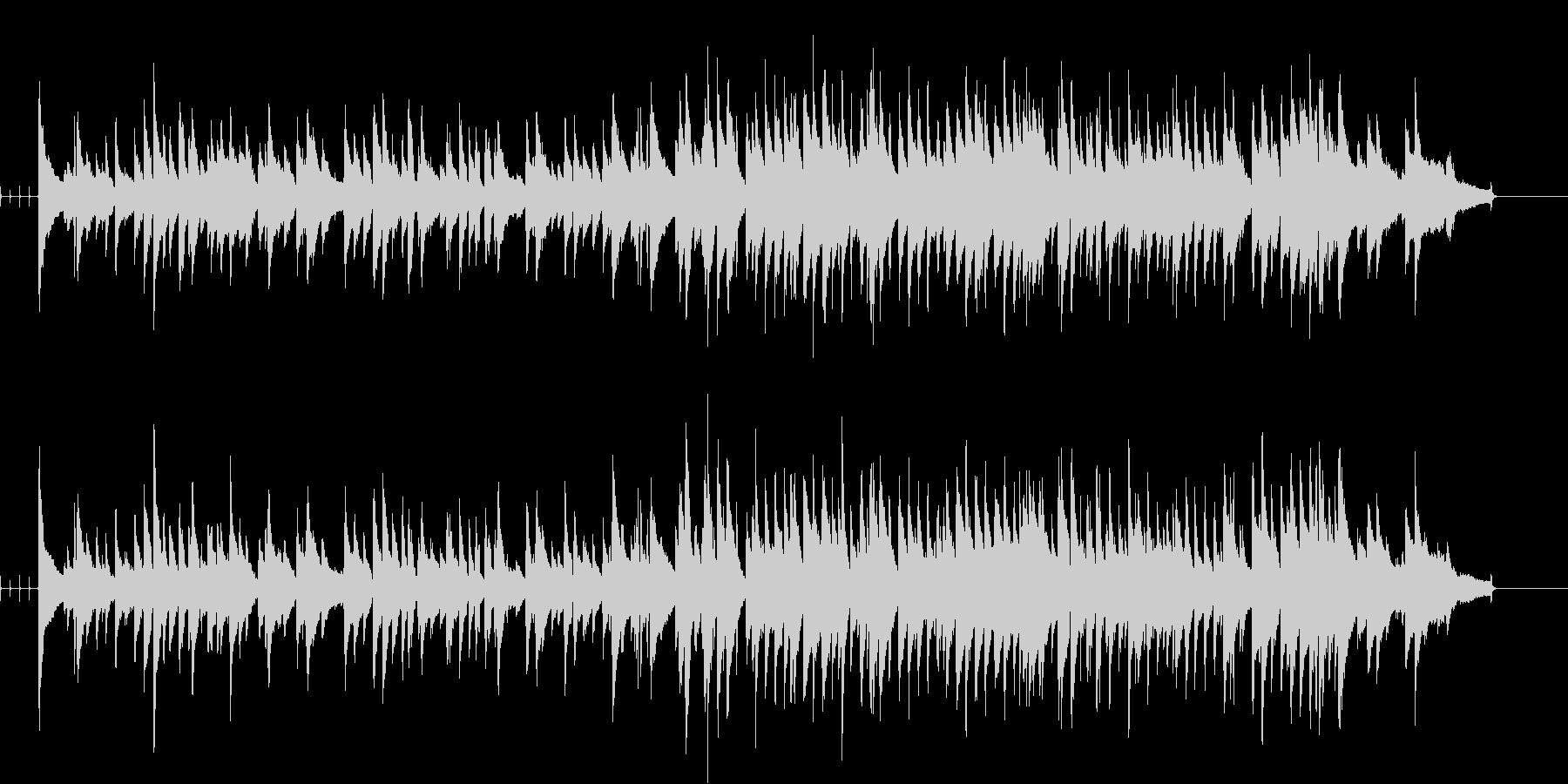 ゆっくりなテンポのジャズっぽい曲の未再生の波形