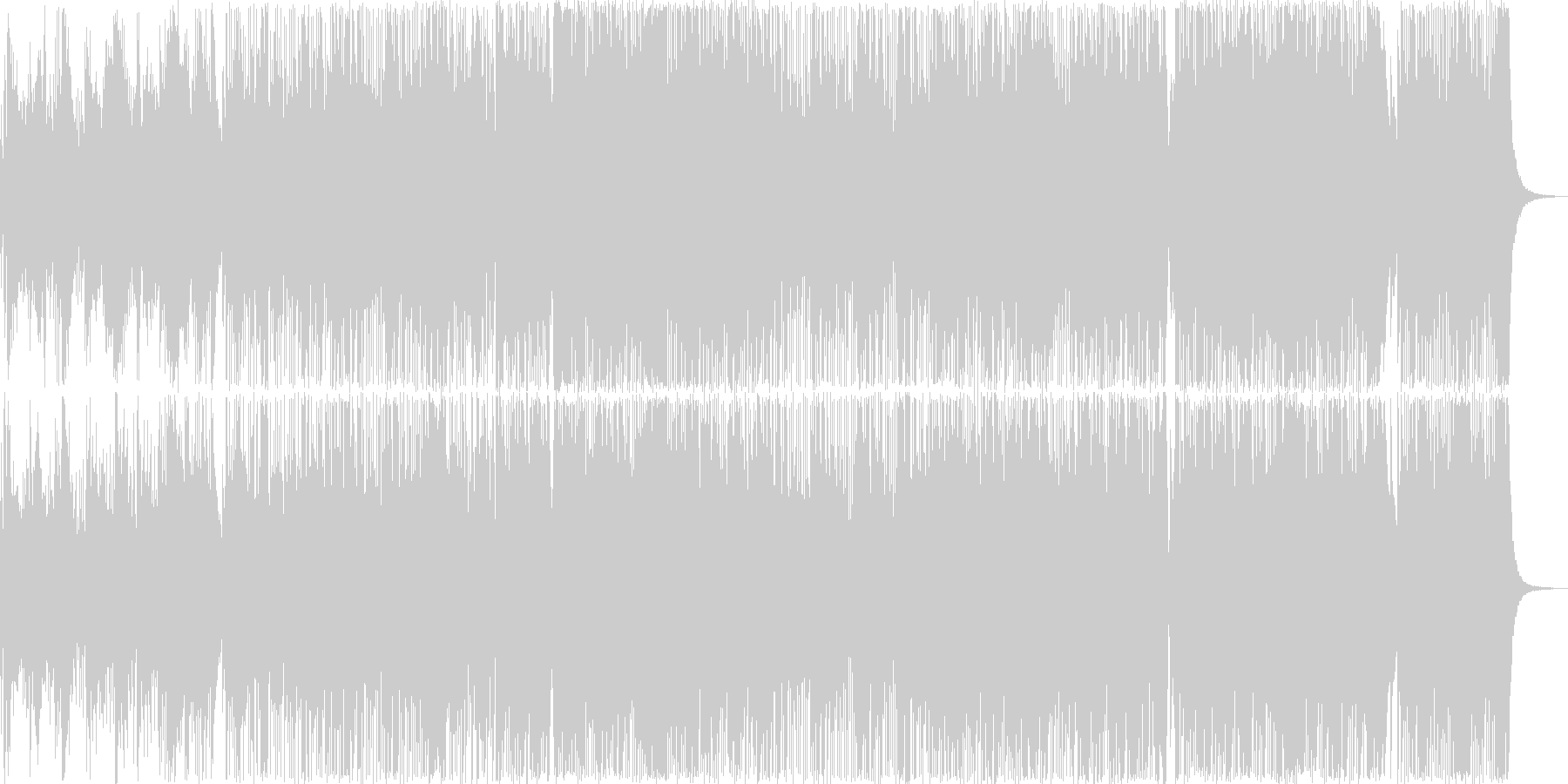 初夏の海岸線〜軽快で明るいピアノ曲の未再生の波形