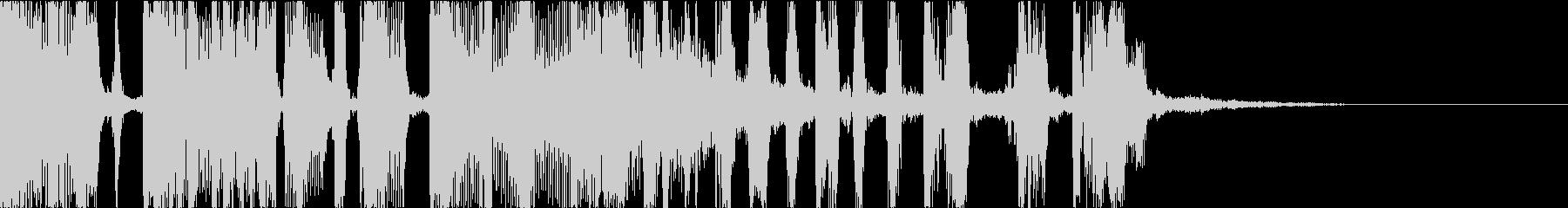 ファンキーなdjスクラッチ・ジングルcの未再生の波形