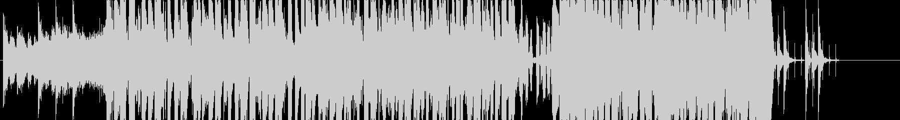 和風でモダンなテクノ・クラブ楽曲の未再生の波形
