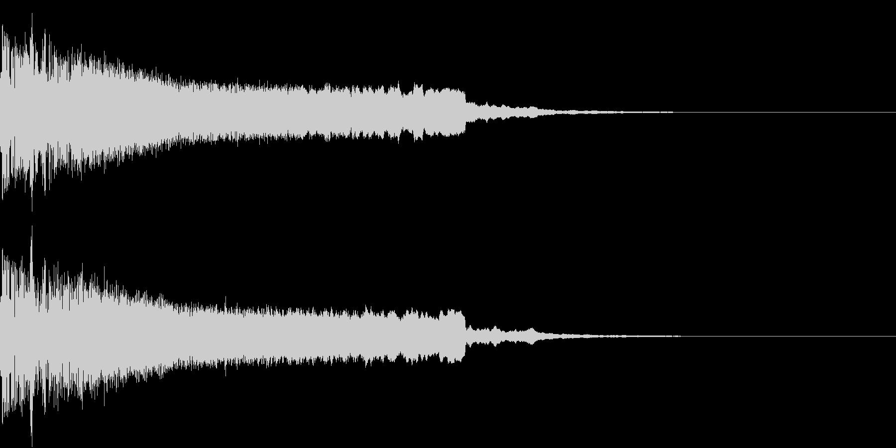ピキューン ピキーン ズキューン 3の未再生の波形
