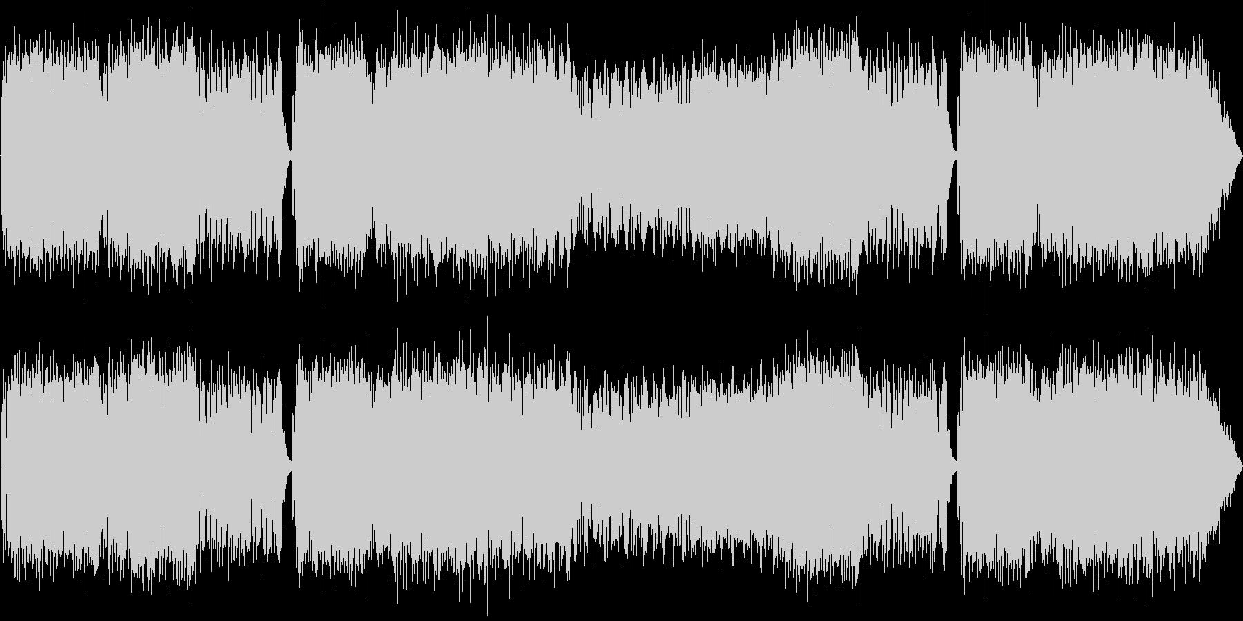 疾走感のあるエレクトロロックの未再生の波形