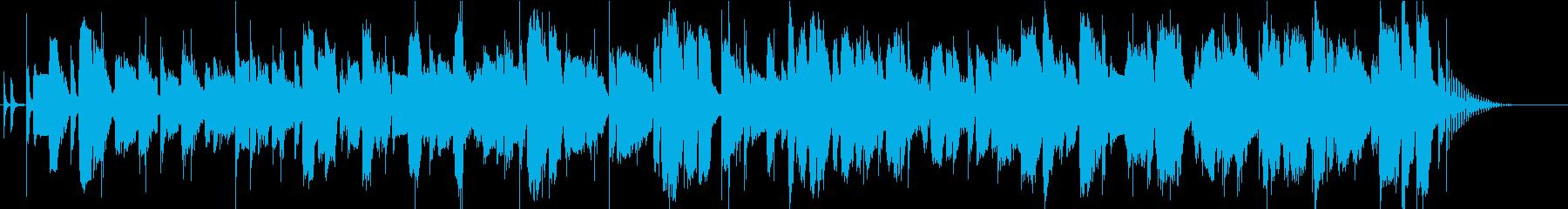 軽快でコミカルなギターアドリブ風ブルースの再生済みの波形