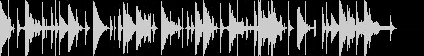 12秒 CM コミカル ピコピコの未再生の波形