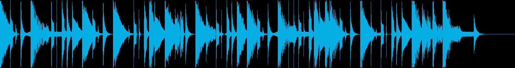 12秒 CM コミカル ピコピコの再生済みの波形