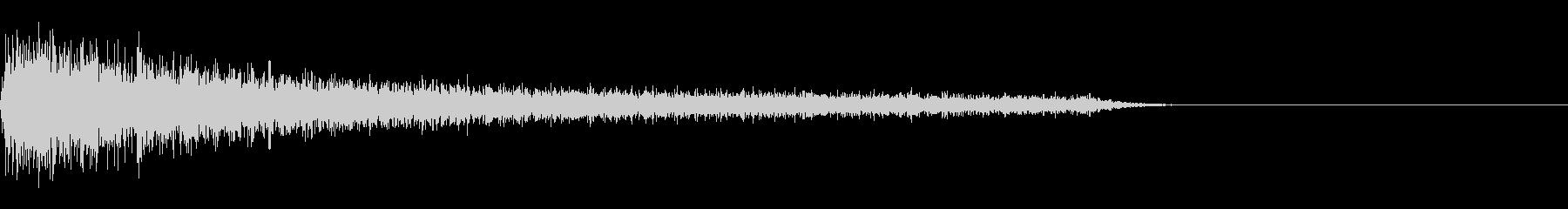 FX・SEピアノ/ショック/衝撃/1-Aの未再生の波形