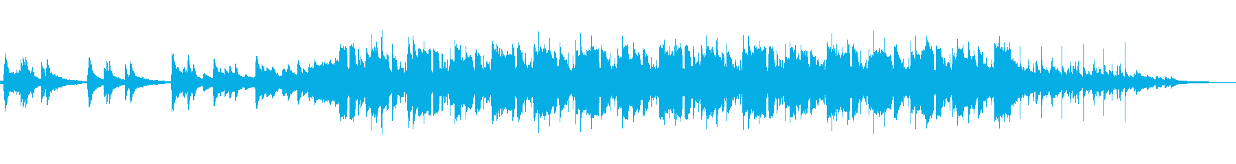 高音ピアノとストリングスの悲しい劇伴の再生済みの波形
