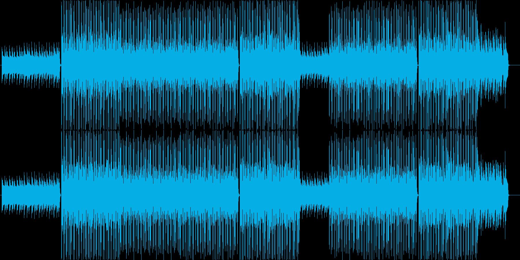 洋楽、ダークなヒップホップビート♫の再生済みの波形