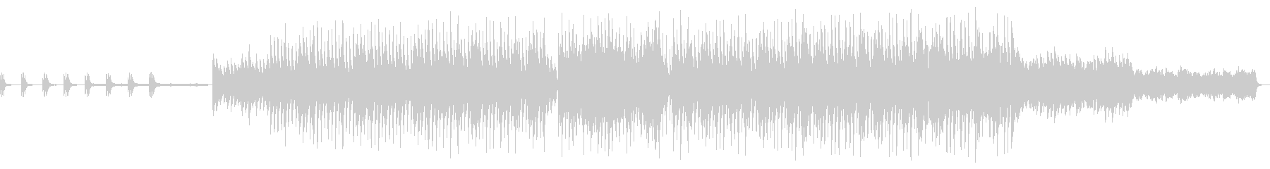 幻想的な世界観を表現したピアノ曲の未再生の波形
