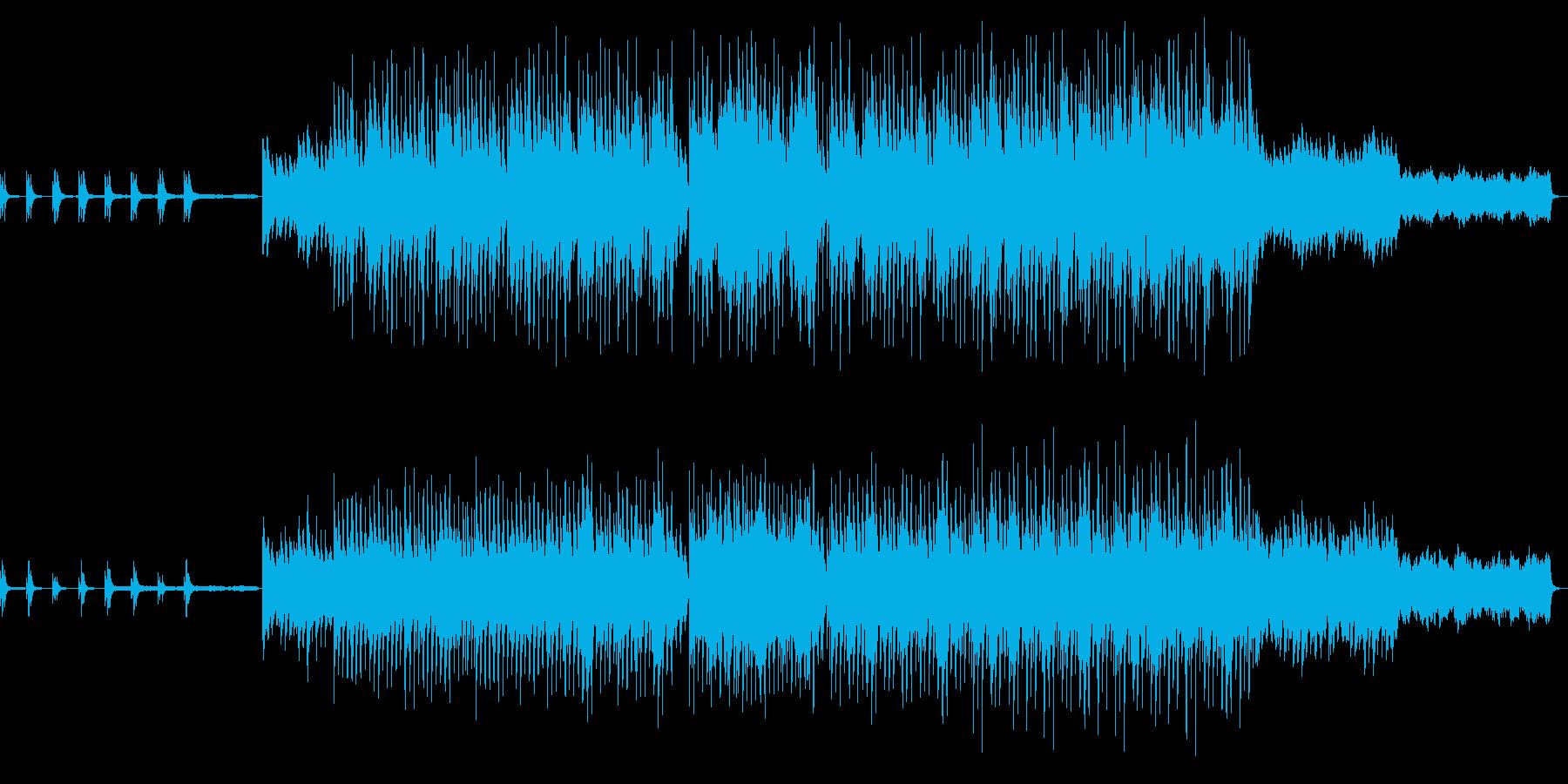 幻想的な世界観を表現したピアノ曲の再生済みの波形