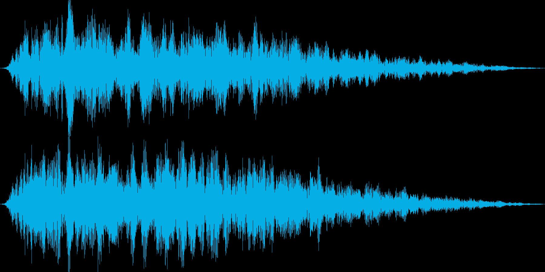 神々しい光(男声合唱)の再生済みの波形