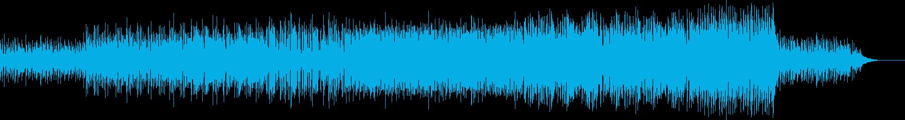 明るく軽快で前向きなイメージの曲の再生済みの波形