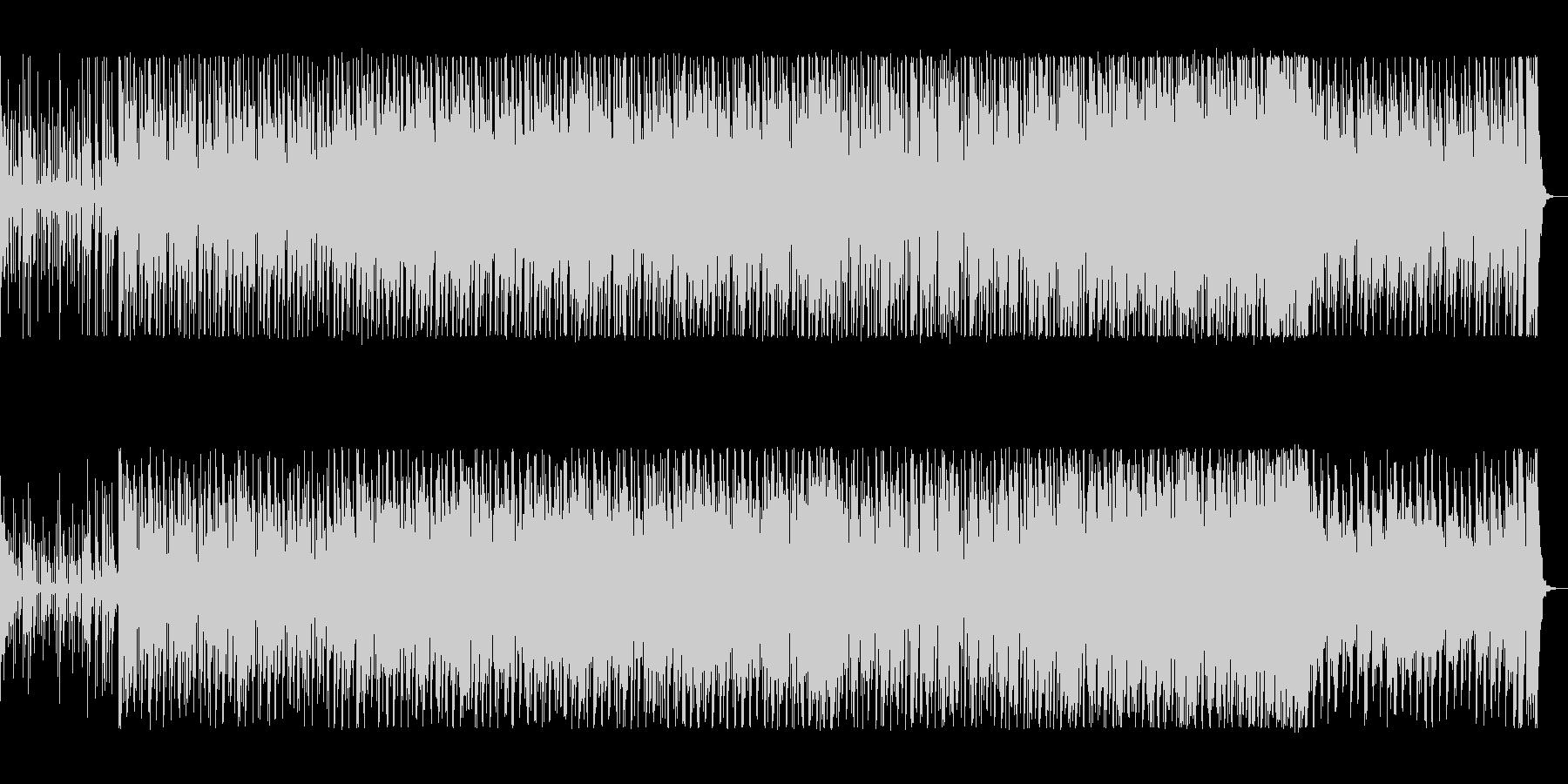 サンバの様なブラジリアンの4つ打ちの曲の未再生の波形