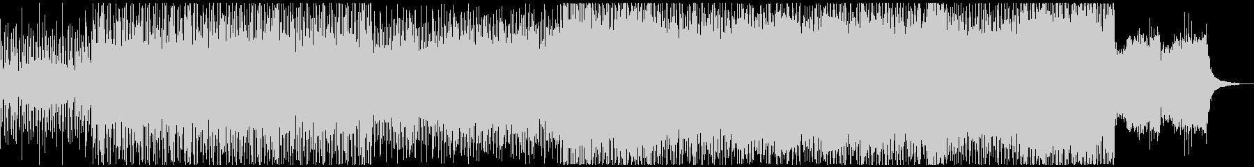疾走するビート、重厚なシンセ音の未再生の波形