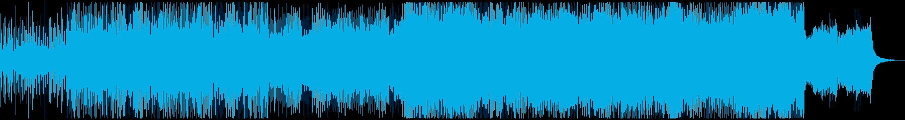 疾走するビート、重厚なシンセ音の再生済みの波形