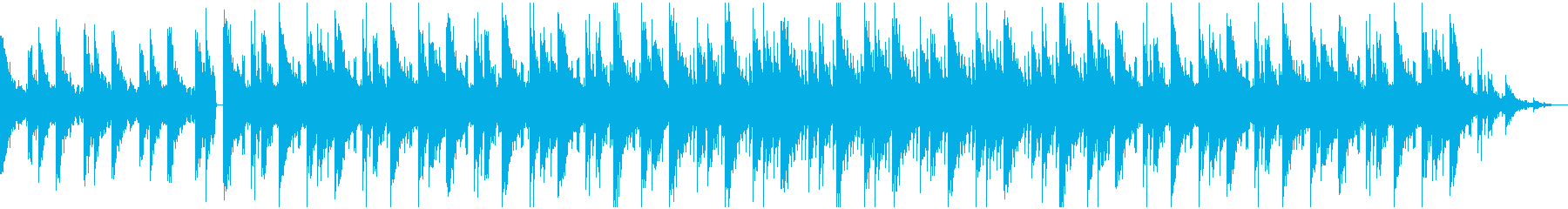 チルアウト 切な優しいローファイBGMの再生済みの波形