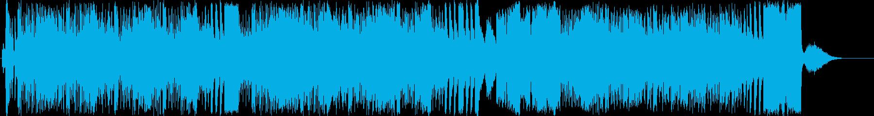慌てる、急ぐ、走るコミカルなBGMの再生済みの波形