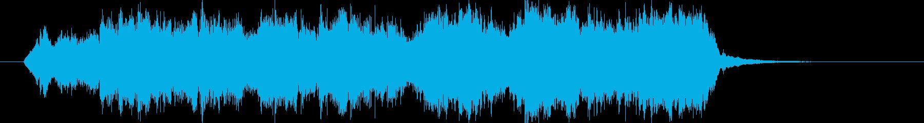 緩やかで滑らかなクラシカルジングルの再生済みの波形