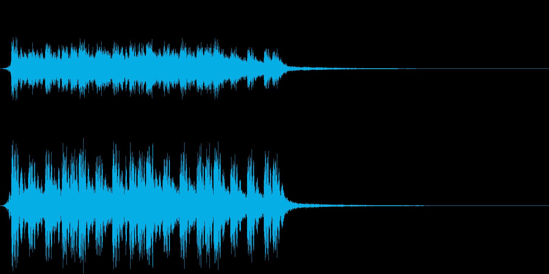 機械的なジングル#02の再生済みの波形