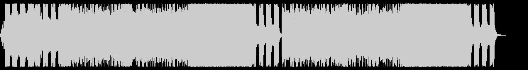 激しいシャウトのデスメタルの未再生の波形