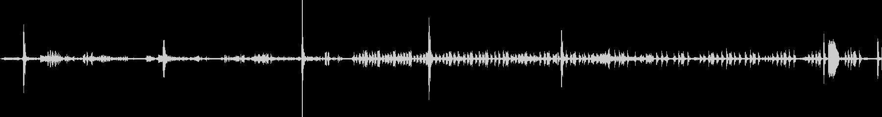 ヒヒフェンス-鳥のさえずり1の未再生の波形