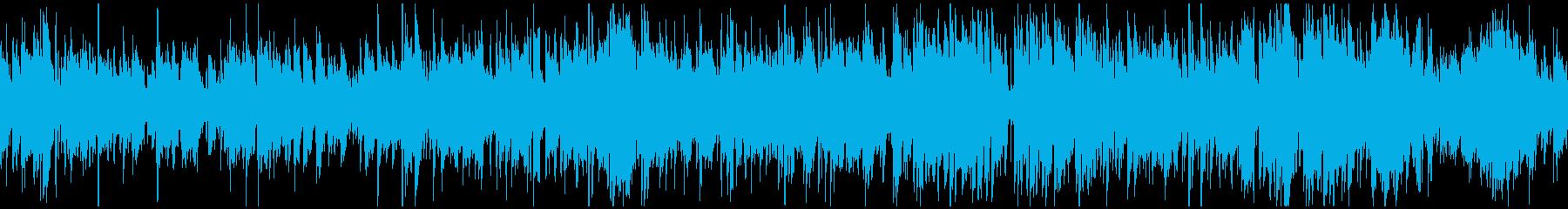 お洒落なカフェ系ジャズボサノバ※ループ版の再生済みの波形