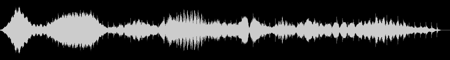 桃源郷のミニマルアンビエントの未再生の波形