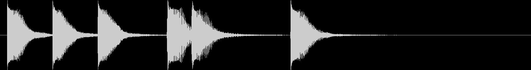 ピアノジングル 幼児向けアニメ系A-01の未再生の波形