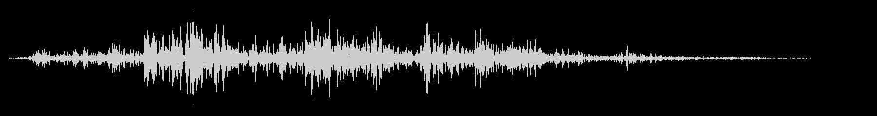 ボディヒットオンダートの未再生の波形