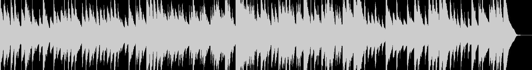 眠れるゆったりとしたオルゴールの未再生の波形