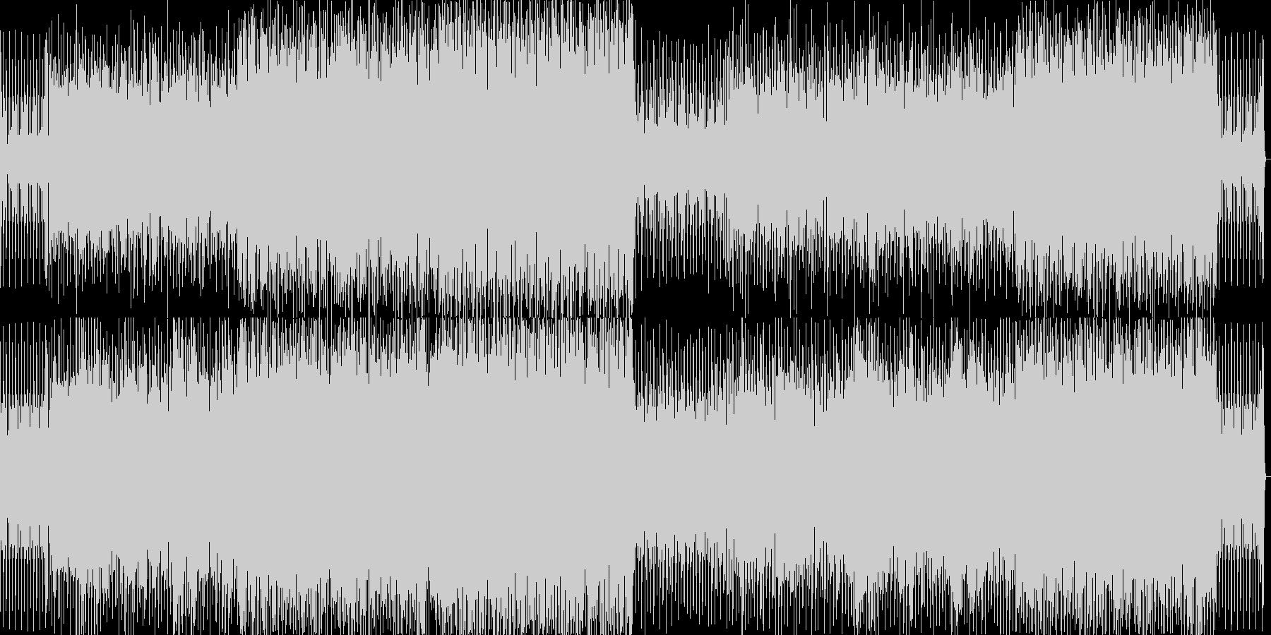 クリスマスをテーマにした軽快なBGMの未再生の波形