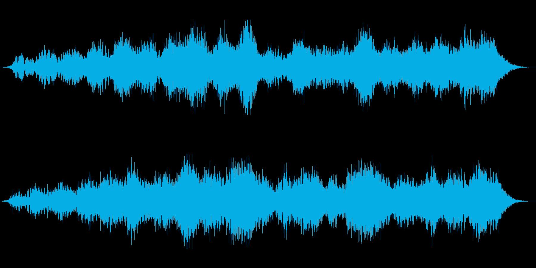 風を感じるような優しい音色の再生済みの波形
