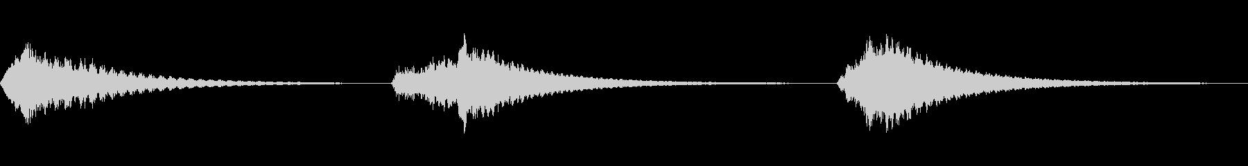 ムーグ、スイープ、アップ、スペース...の未再生の波形