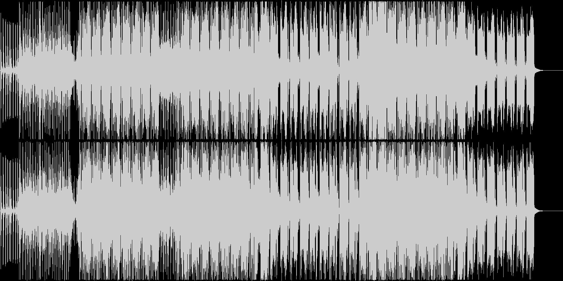 ギターやサックスのリズムが印象的な曲の未再生の波形