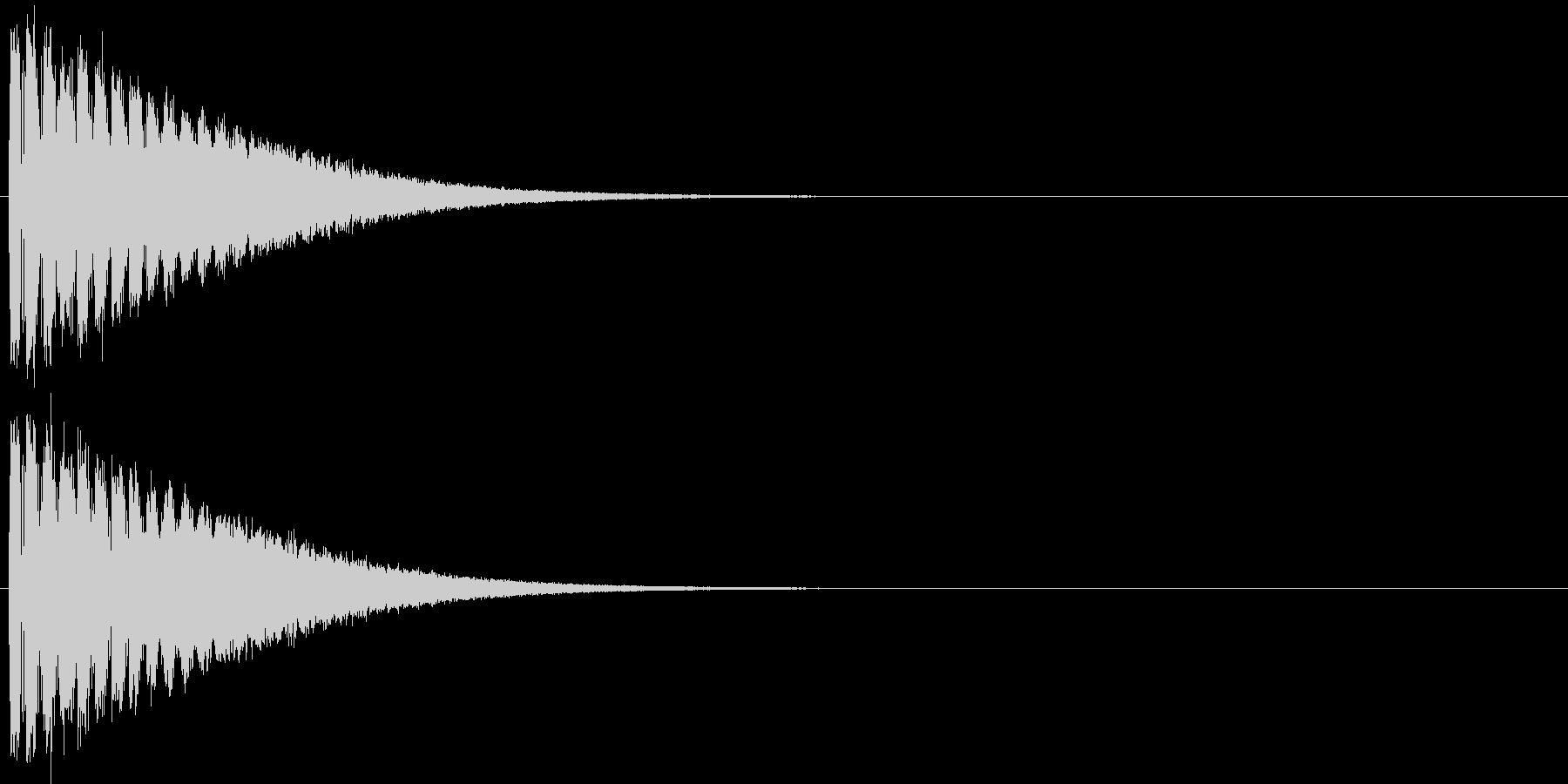 回復の効果音の未再生の波形