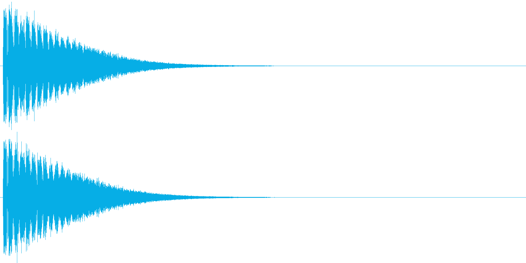 回復の効果音の再生済みの波形