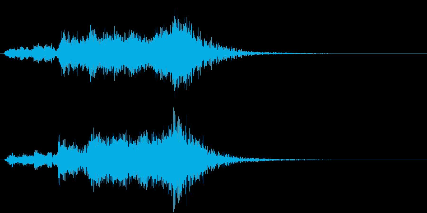 サウンドロゴ・スポーツ向けファンファーレの再生済みの波形